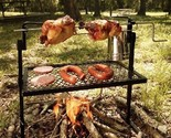 Grill Bbq Rotisserie Spit Camping Outdoor Campfire Fire Cooking Camp Cookware