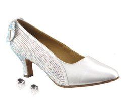 "Very Fine Ladies Women Ballroom Dance Shoes EKSA5512 White Satin 2.5"" He... - $65.95"