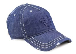True Religion Men's Vintage Distressed Cotton Horseshoe Trucker Hat Cap TR2095 image 7