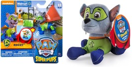 Paw Patrol Super Pups Plush and Super Pups Figure ROCKY Bundle (2 items) - $23.99
