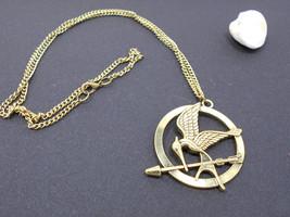 Pendant Necklace eagle bird with the arrow bronze - $48.00