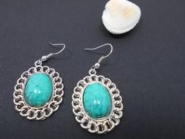 Earrings turquoise silver - $19.00