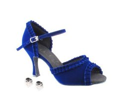"Very Fine Ladies Women Ballroom Dance Shoes EKSA7001 Red Velvet 2.5"" Heel (7.5M) image 2"