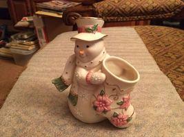 """Lenox Petals & Pearls 6"""" Figural Snowman Bud Vase - $10.80"""