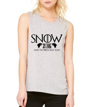 Women's Flowy Muscle Top Snow Make North Great Again John Top - $14.94+