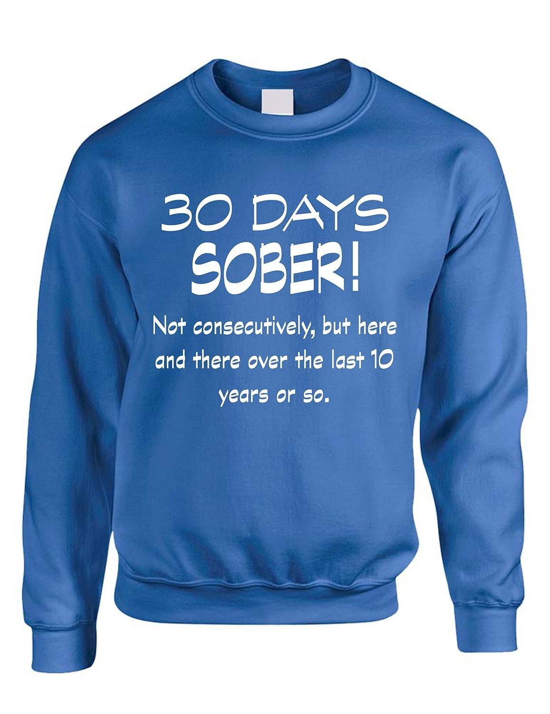 Allntrends Adult Sweatshirt My Blood Type is Oh Irish Shamrock St Patricks Top