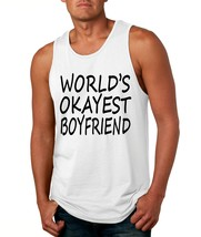 Men's Tank Top World's Okayest Boyfriend Valentine's Day Top - $14.94+