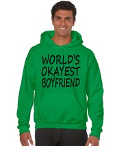 Men's Hoodie World's Okayest Boyfriend Valentine's Day Top - $24.94+