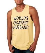 Men's Tank Top World's Okayest Husband Valentines Day Top - $14.94+