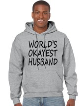Men's Hoodie World's Okayest Husband Valentines Day Top - $24.94+