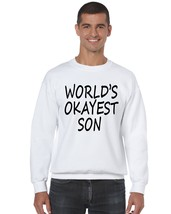 Men's Crewneck Sweatshirt Okayest Son Cool Family Gift - $17.94+