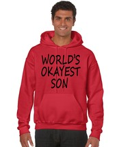 Men's Hoodie Sweatshirt Okayest Son Gift Family Sweatshirt - $24.94+