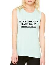 Women's Tank Flowy Muscle Make America Hate Again Election Top - $14.94+