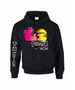 Adult Hoodie Sweatshirt Gymnastics Mom Pink Print Gym Top - $24.94+