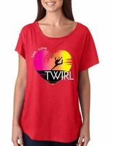 Women's Dolman Shirt Twirl Art Pink Print Cool Love Live Tee - $14.94