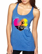 Women's Tank Top Twirl Art Pink Print Cool Love Live Tank Top - $14.94