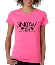 Women's T Shirt Snow Make The North Great Again Snow President - $10.94+