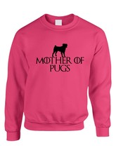 Adult Crewneck Mother Of Pugs Love Dogs Top - $17.94+
