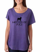 Women's Dolman T Shirt Mother Of Pugs Love Dogs Cool Tee - $14.94