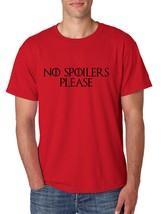 Men's T Shirt No Spoilers Please Cool Funny T Shirt - $10.94+