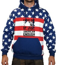 Men's USA Flag Hoodie Every Day Is 4th Of July Party Top - $29.94+