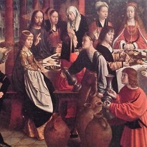 The Wedding at Cana (MINI PRINT) By Gerard David - $45.00