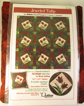 Jeweled Tulip Tulips Earthlight Quilt Cotton Fabric Kit -Sold by the Kit... - $49.97
