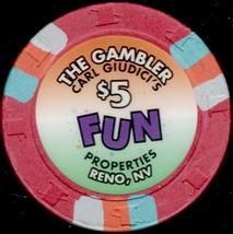 $5 Casino Chip, Gambler, Reno, NV. 1995. L49. - $6.50