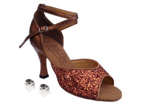 "Ladies Women Ballroom Dance Shoes Very Fine EKS9220 Signature 3"" Heel with He..."