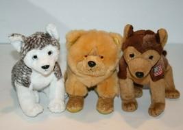 TY Beanie Baby Dogs MUKLUK ZODIAC DOG COURAGE Lot of 3 Soft Toy Plush St... - $24.16