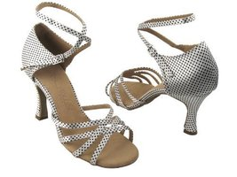Ladies Women Ballroom Dance Shoes for Latin Salsa Tango SERA1606 White & Blk ... - $65.95