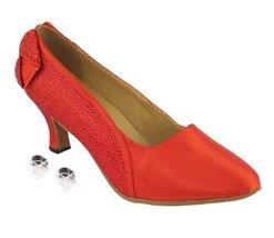 "Very Fine Ladies Women Ballroom Dance Shoes EKSA5512 Red Satin 2.5"" Heel (7M) - $65.95"