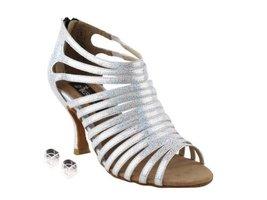 "Very Fine Ladies Women Ballroom Dance Shoes EKCD3026 Silver White 3"" Hee... - $79.95"
