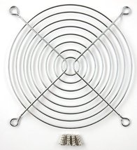 120mm Chrome Fan Grill with 4 Mounting Screws Included - $4.65