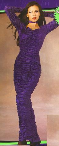 PURPLE VELVET COFFIN QUEEN DRESS SZ MD 10-14