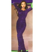 PURPLE VELVET COFFIN QUEEN DRESS SZ MD 10-14 - $30.00