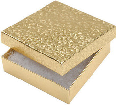 """""""Jewelry Boxes 3.5""""""""X3.5""""""""X.875"""""""" 6/Pkg-Gold, S... - $19.19"""