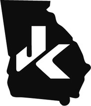 2 of Jeep JK georgia Decal Wrangler Decals Stickers Logo pick your own ... - $10.00