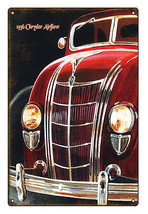 Reproduced from Original Art by Bob Miller 1936 Chrysler Airflow Sign. 1... - $25.74