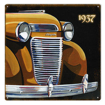 Original Art by Bob Miller 1936 Chrysler Front End  Sign - $25.74