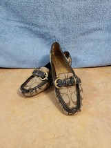 Coach Sharin Womens Monogram Moccasins Signature C Loafers Brown Shoes Size 6B - $34.60