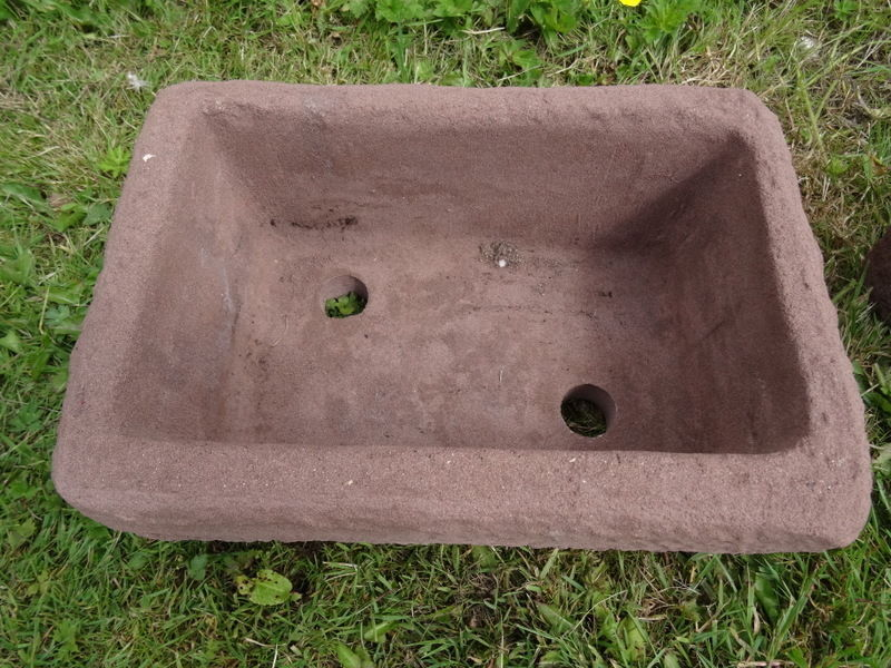 3 Vintage French Style Sandstone Primitive Garden Pot Planters Water Feature