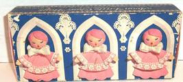 Avon Pink Hostess Soaps LITTLE CHOIR BOYS Set of 3 Fragranced Soap Vtg - $6.85