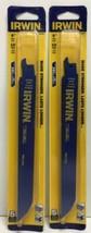 """(New) IRWIN  8"""" 10 TPI Wood &Metal Reciprocating Saw Blades  5 PC 372810P5 Lot 2 - $21.77"""