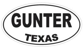 Gunter Texas Oval Bumper Sticker or Helmet Sticker D3438 Euro Oval - $1.39+