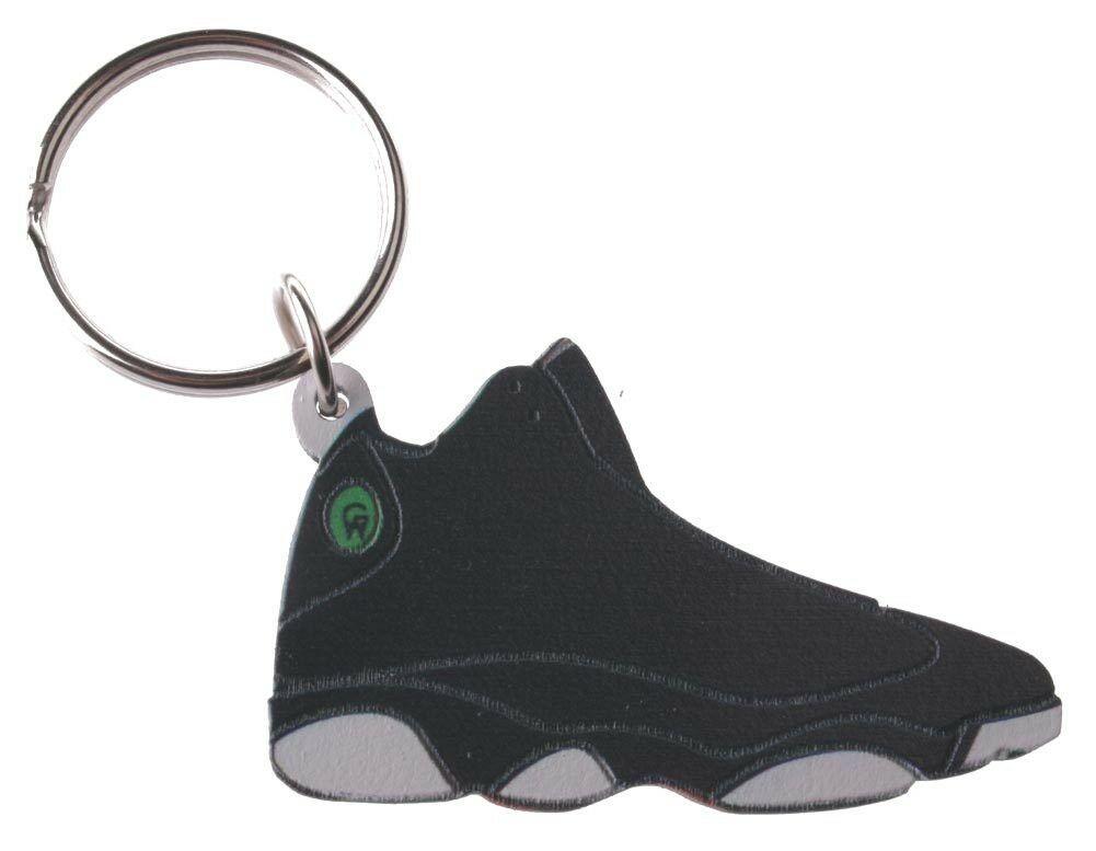 Good Wood NYC Play Off 13 Sneaker Keychain Wht/Blk VIII Shoe Key Ring key Fob