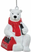 Coca Cola Coke Polar Bear with 6 Pack Resin Christmas Ornament! - $4.99