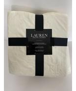 """Lauren Ralph Lauren King 108"""" x 90"""" Micromink Blanket Soft Throw Cream B... - $67.95"""