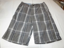 Uomo American Eagle Outfitters Plaid Carbone Passeggiata Shorts 28 Usato EUC <> - $16.03