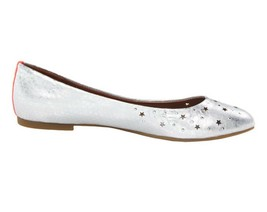 Womens Shoes Circus By Sam Edelman ALEA Slip On Ballet Flats Stars Soft Silver - $35.99